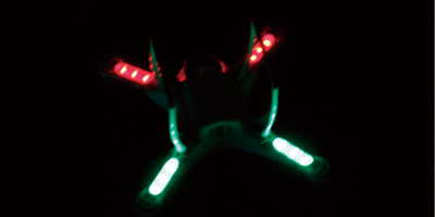High Intensity LED Lights, To Aid Orientation During Flight